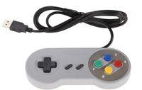 Precio de Joystick usb-Venta al por mayor- Juego retro para SNES USB cableado Classic GamePad joystick controlador para PC de Windows Seis botones digitales