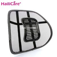 Wholesale New Car Seat Chair Back Massage Black Lumbar Support Mesh Ventilate Cushion Pad for Office Car seat home and truck chairs