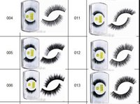 Wholesale 100 mink hair false eyelashes thick long eyelash curly fake eyelashes