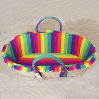 baby cradles patterns - Baby Cribs Striped Pattern Newborn Baby Basket Infant Bassinet Portable Travel Nursery Cradle Bed VT0407