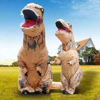 achat en gros de costume dino adulte-Livraison gratuite de DHL World Park Adultes Taille T-REX Costume gonflable Halloween Dino mascottes Combinaisons