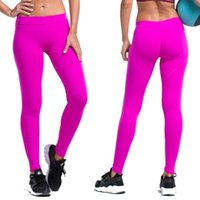 Wholesale Women Yoga Pants Sports Exercise Tights Fitness Running Jogging Trousers Gym Slim Compression Pants Leggings Sexy Hips Push Up