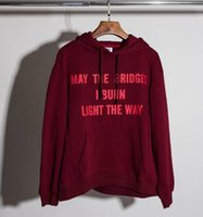 Wholesale Vetements Oversize Men Hoodies Europe Simple Street Tide Brand GD Loose Wine Red Letters Hooded Sweatshirt Couple Hoodies kancye