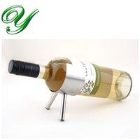 Precio de Bastidores de almacenamiento de vino-Soporte de botella de cerveza de acero inoxidable Soporte de almacenamiento de estantería de botella de cerveza Soporte de champán de plata moderno Soportes de barra de barra de vino Caja de regalo
