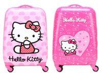 Wholesale children carton hello kittyuniversal wheel rolling suitcase