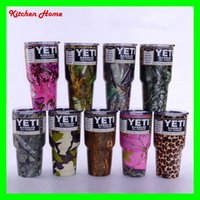 Wholesale 20oz oz Camouflage Yeti Rambler Tumbler Cups CAMO Vacuum Insulated Vehicle Coffee Beer Bottles Camouflage Colored Yeti Coolers