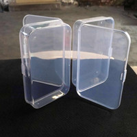 Wholesale Clear Plastic Transparent With Lid Storage Box Collection Container Case