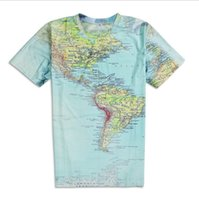 americas map - 2017 Women Men tops World Map T Shirt Urban Threads Hipsters retro globe image of the Americas sexy t shirt Short Sleeve tees