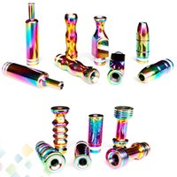 Electronic Cigarette beautiful tip - Beautiful Rainbow Drip Tip Stainless Steel Long drip tip Bullet drip tips Gourd Mouthpiece for EGO Atomizer E Cigarette