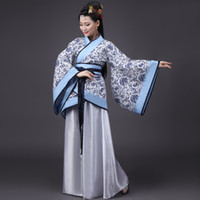 Wholesale q0228 ancient chinese costume women clothing clothes robes traditional beautiful dance costumes han tang dynasty dress china fairy