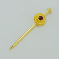 Wholesale Ethiopian Hair Jewelry K Gold Plated Hair Pin Ethiopia Hair Piece Habesha Jewellery for Women Girls Eritrea Africa