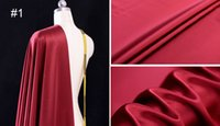 Wholesale Solid Color Natural Mulberry Silk Fabric MM Silk Satin meters width