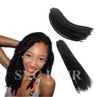 Wholesale 18 quot Havana Mambo Twist Crochet Braid Hair Senegalese Twist braids Faux Locs Synthetic dreadlocks braids hair extensions pack