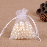 Wholesale 100 White Organza Jewelry Gift Pouch Bags inch cm Drawstring Bag Organza Gift Candy Bags