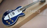 Inventario de encargo blanco brillante de la guitarra de la guitarra de la tienda de 1960 Corvette del blanco al por mayor para el envío libre