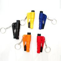 Wholesale Emergency Mini Safety Hammer Auto Car Window Glass Breaker Seat Belt Cutter Rescue Hammer Car Life saving Escape Tool