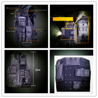 Wholesale Tactical combat readiness black tactical vest security outdoor training vest CS field protective equipment