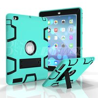best skin plastic - Shockproof Defender Case Best Armor Case For iPad iPad Air iPad Pro Colorful Protector Case With Sticker