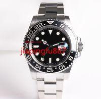 Proveedor de la fábrica NUEVO Relojes de pulsera de alta calidad de lujo Reloj de cerámica del acero inoxidable 40m m 116710LN 116710 Dial negro Asia 2813 hombres automáticos