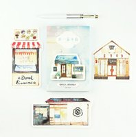 Wholesale pack My Little Store Greeting Card Postcard Birthday Letter Envelope Gift Card Set Message Card
