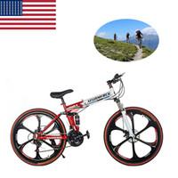 Wholesale BIG SALE US stock inch Folding Bicycles Six spokes Speed Mountain Bike Unisex