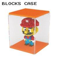 Wholesale Diamond Blocks Display Case Blocks Bricks Figures Show Box Brick Toy Building Blocks Showing Case