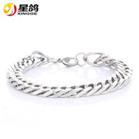 Wholesale Factory Price Men s Silver Plated Link Chain Bracelet Simple L Stainless Steel Bracelet For Women Men gift Jewelry