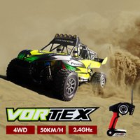 al por mayor fuera de la carretera coche motor sin escobillas-50 km / h RC Vehículos 2.4G Mando a distancia Off-Road Rock Climbing Coches 4WD Highspeed Brushless Motor RC Coches Niños Juguetes