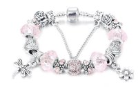 Wholesale Europe And The United States Style Bracelet DIY Beads Silver Bracelet With Crystal Beads