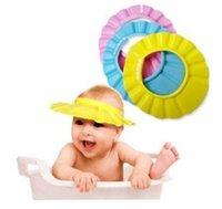 Wholesale Bath Shower Caps pc colors Adjustable Baby Child Kids Shampoo Bath Shower Cap Hat Wash Hair Shield J19