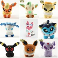 Wholesale 10CM Poke Plush Toys Children Kids Action Movies Cartoon Figures Eevee Vaporeon Stuffed Dolls XMAS Gifts Style