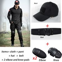 Wholesale Tactical Jacket Sets Uniform With Whole Equipment Tactical Combat Camouflage Gear Multicam With Knee Pad Sropa Caza Frog Suit