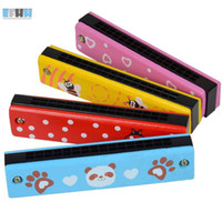 Wholesale Wooden Harmonica Kids Music Instrument Educational Child Attractive Toy Good Gift