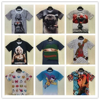 applique definition - 3 d men s spring men T shirt printing in Europe and the short sleeve T shirt High definition digital printing with short sleeves