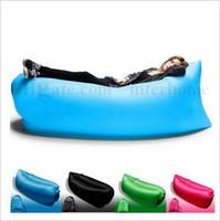 Air pad beach bedding - Outdoor Inflatable Air Sleeping Bag Portable Sofa Hangout Lounger Air Boat Air Lazy Sofa Inflate Camping Beach Sleeping Bed Hammock B1742