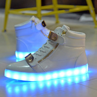 Wholesale Fashion Sneakers Men and Women Kids Casual Shoes Couples Shoes White Black Unisex led Shoes