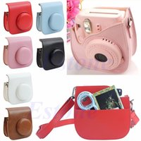 Wholesale Leather Camera Shoulder Strap Bag Protect Case Pouch For Fujifilm Instax Mini