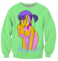 animated characters - New Arrivals Bulma Sweatshirt vibrant jumper animated show Dragon Ball Z Characters Cartoon Sweats Women Men Outfits plus size