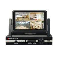 achat en gros de china inch lcd-CHINA FACTORY PRICE xmeye CCTV 4ch ahd cctv lcd dvr build in 7 inch lcd monitor