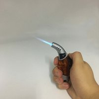 Wholesale Mini Orange color Windproof Torch Repeated Use Butane Gas Jet Flame Cigarette Lighter