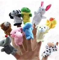 Wholesale Animal finger puppets High quality finger accidentally Cloth art toys children gifts Double fabric