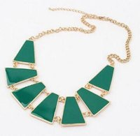 Wholesale Exaggerated Statement Necklace Fanshion Metal Arranged Choker Necklaces Drip Punk for Women Trend Jewelry Fashion Street Necklace