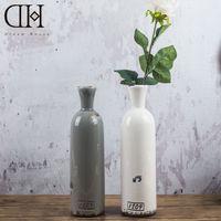 Ceramic accessories tabletop decorations - DH porcelain ceramic table flower vases bottle vintage home decoration accessories for Home Display window wedding decoration