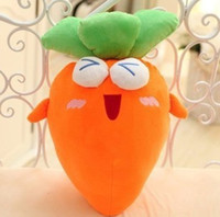 Wholesale Frutas peluche legumes brinquedo pelucia plush fruits vegetables toys stuff carrot soft toy