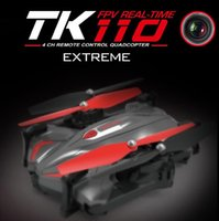 Wholesale new Skytech TK110HW Wifi FPV P HD Camera Foldable RC Quadcopter with Flight Plan Route App Control Altitude Hold Drones RTF helicopter