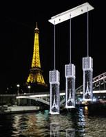 Luxe Crystal Bubble Light Tour Eiffel Lampadaire Lustres Plafonnier Bar Salle à manger intérieur blanc / chaud blanc / vert / lumière bleue