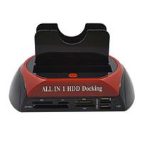 docking sata hdd docking - All In HDD Docking Station Dual USB quot quot IDE SATA External HDD Box Hard Disk DRIVE Enclosure Card Reader