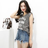 Wholesale 2017 summer new style fashionable dress slacks sleeveless t shirt blouse