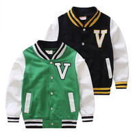 Wholesale 2016 Spring Casual Male V Neck Child Baby Boy Baseball Sport Uniform Jacket Outerwear