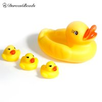 bath set suppliers - Cute Baby Girl Boy Pacifier Supplier Bath Bathing Classic Rubber Race Squeaky Ducks Set Yellow Sale